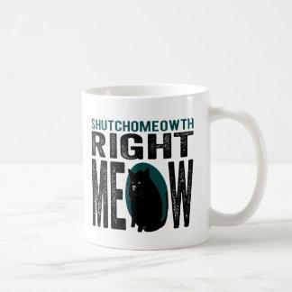 ShutchoMEOWth Right Meow - Funny Kitty Cat Mugs