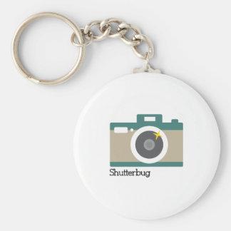 Shutterbug Basic Round Button Key Ring