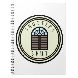 Shutters Shut Notebook