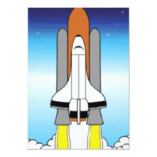Shuttle 13 Cm X 18 Cm Invitation Card