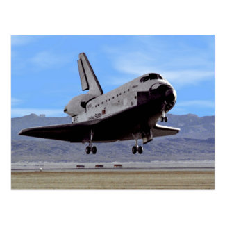 Shuttle Atlantis Landing at Edwards Postcard