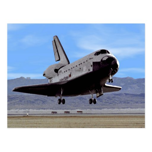 Shuttle Atlantis Landing at Edwards Post Card