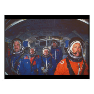 Shuttle crew_Space Poster