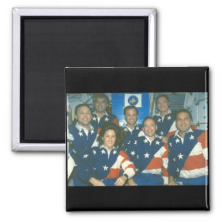 Shuttle crew_Space Square Magnet