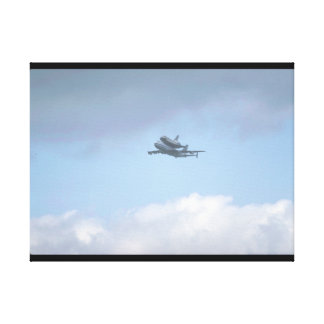"Shuttle ""Discovery"" near_Military Aircraft Canvas Print"