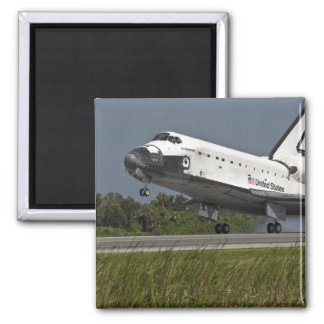 Shuttle Endeavour landing Kennedy Space Center Square Magnet