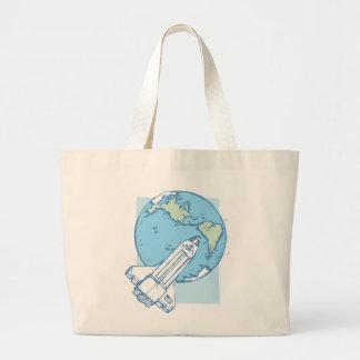 Shuttle in Orbit Jumbo Tote Bag