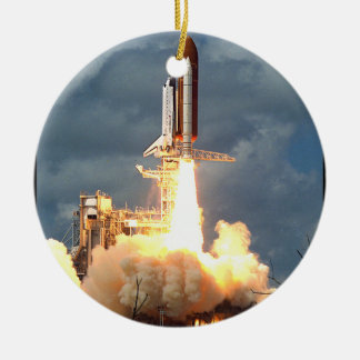 Shuttle Launch Christmas Ornament