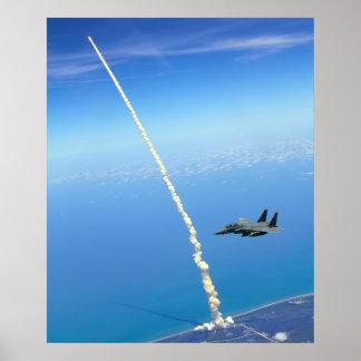 Shuttle launch poster