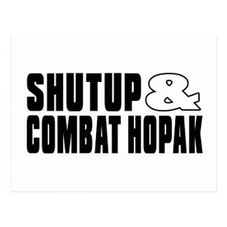 SHUTUP AND COMBAT HOPAK DESIGNS POSTCARD