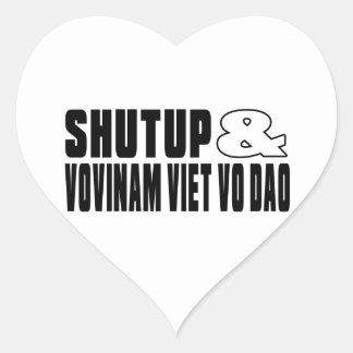 SHUTUP AND VOVINAM VIET VO DAO DESIGNS HEART STICKER