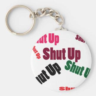 shutup basic round button key ring