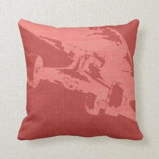 Shuvit Shove-It Skateboard Pillow Burnt Coral Cushions