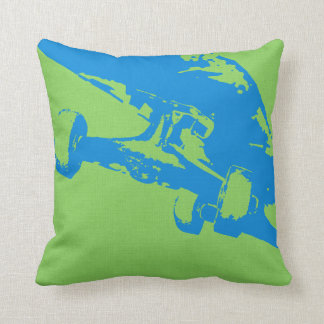 Shuvit Shove-It Skateboard Pillow Grey Lt Blue Cushions