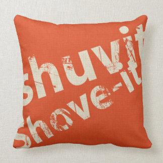 Shuvit Shove-It Word Art Pillow Orange & Natural Cushions