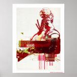SHWANN: The Futuristic Samurai DJ Poster