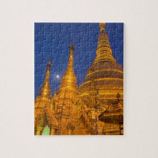 Shwedagon Pagoda at night, Myanmar Jigsaw Puzzle