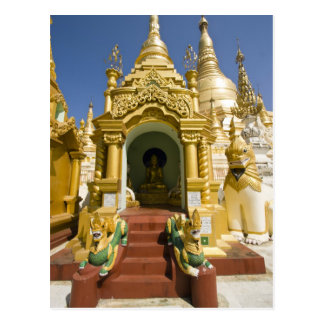 Shwedagon Pagoda (Paya), large temple site that 4 Postcard