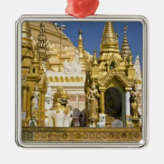 Shwedagon Pagoda (Paya), large temple site that Christmas Ornament