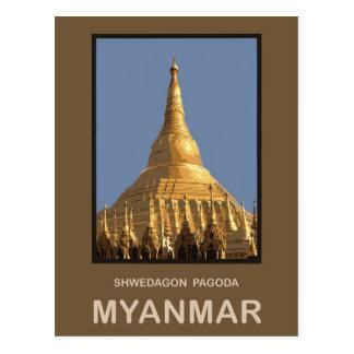 Shwedagon Pagoda Yangon Myanmar Postcard