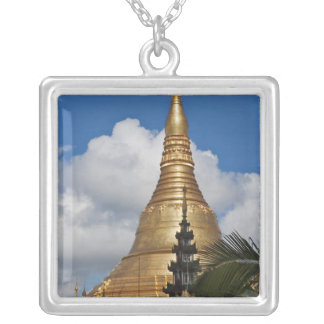 Shwedagon Pagoda, Yangon, Myanmar Silver Plated Necklace