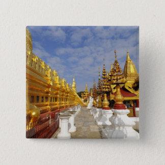Shwezigon Pagoda complex in Bagan (Pagan), 15 Cm Square Badge