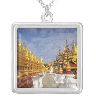 Shwezigon Pagoda complex in Bagan (Pagan), Silver Plated Necklace