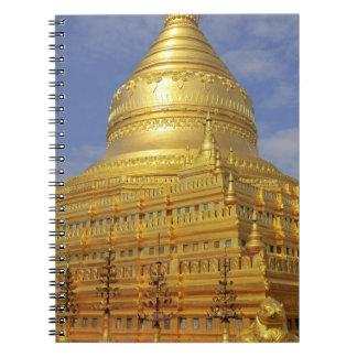 Shwezigon Pagoda in Bagan, Bagan (Pagan), 2 Spiral Notebook