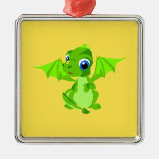 Shy Baby Dragon Christmas Ornament