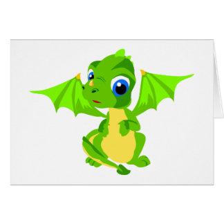 Shy Baby Dragon Greeting Card