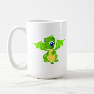Shy Baby Dragon Basic White Mug
