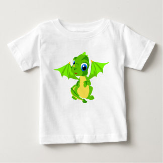 Shy Baby Green Dragon Baby T-Shirt