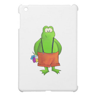 Shy Boy Frog with Flowers Cover For The iPad Mini