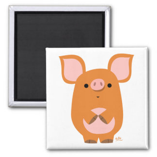 Shy Cartoon Pig custom magnet