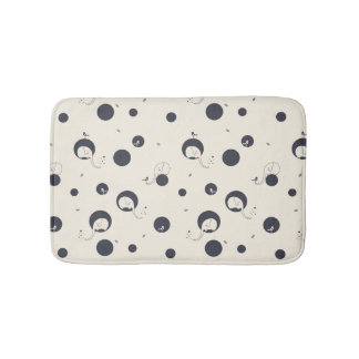 Shy Elephant Pattern Bath Mats