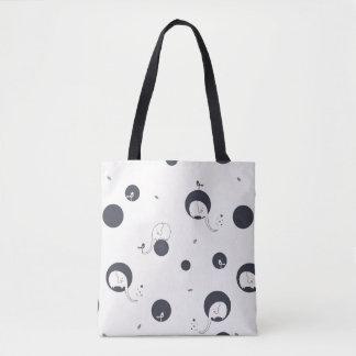 Shy Elephant Pattern Tote Bag
