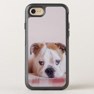 Shy English Bulldog Puppy OtterBox Symmetry iPhone 8/7 Case