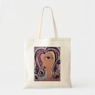 Shy Girl Tote Canvas Bags