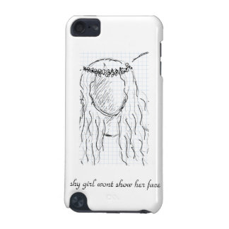 shy girl wont show her face iPod touch (5th generation) case