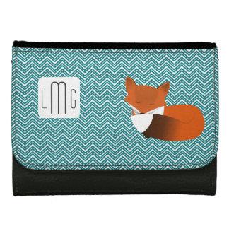 Shy Little Fox Monogrammed Wallet