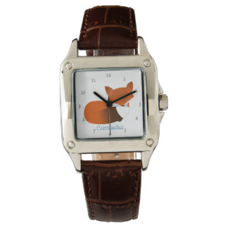 Shy Little Red Fox Personalized Watch