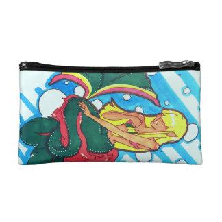 Shy mermaid cosmetic bag