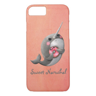 Shy Narwhal with Donut iPhone 8/7 Case