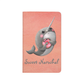 Shy Narwhal with Donut Journal
