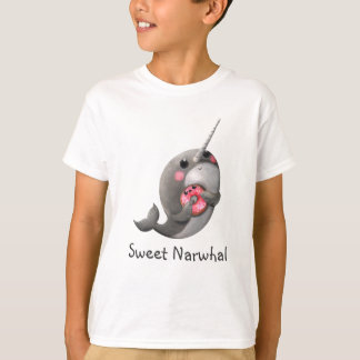 Shy Narwhal with Donut Tee Shirts