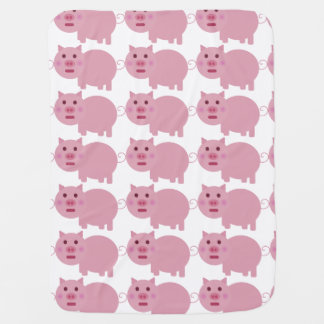 Shy Pig Baby Blanket