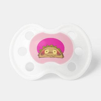 shy taco funny cartoon baby pacifier