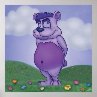 Shy Teddy Bear Poster