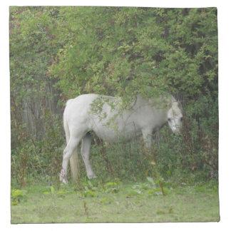 Shy White Horse Napkin