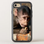 Shy Young Male Hamadryas Baboon (Papio) OtterBox Symmetry iPhone 8/7 Case